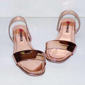 NWOB Moleca Glam Metallic Flat Sandals